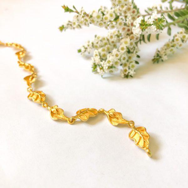 22ct Gold Leaf Bracelet