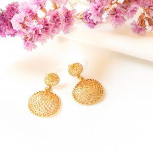 18ct Gold Net Earrings