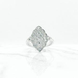 Art Deco Diamond White Gold Ring