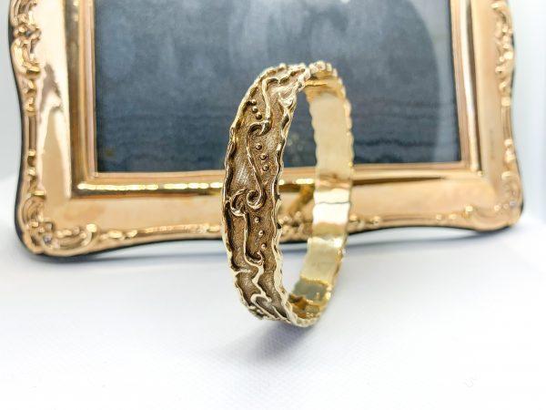 Artisan Gold Bangle